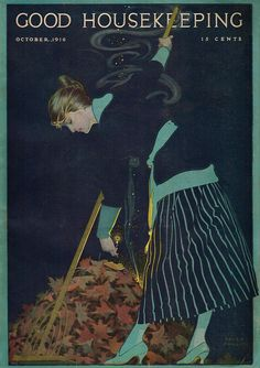 Vintage Magazine Cover by Coles Phillips - October 1916