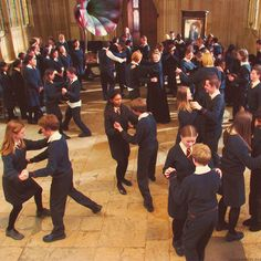I love it. Everyone pairs up and where is Ron? Still with McGonagall.