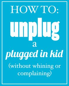 Limit your kid's screen time without whining or complaining - implementing this…