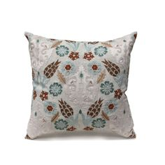 Living room option- Bliss Studio Tulip Trellis Pillow - Natural/Blue/Taupe