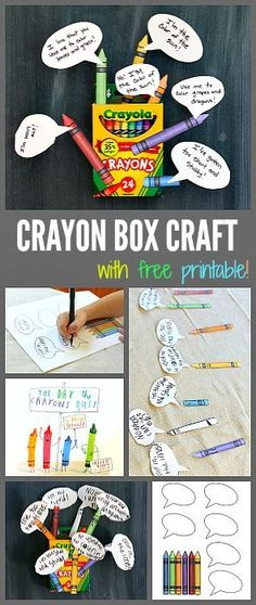 Box Craft Inspired by The Day the Crayons Quit Crayon Box Craft for Kids inspired by The Day the Crayons Quit! (Fun activity for Back to School!) ~ Crayon Box Craft for Kids inspired by The Day the Crayons Quit! (Fun activity for Back to School! Retelling Activities, Learning Activities, Teaching Resources, Activities For Kids, Teaching Genre, Teaching Ideas, Beginning Of School, First Day Of School, Library Lessons