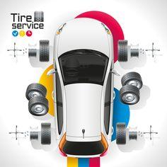 Car diagnostic business template vector design 05