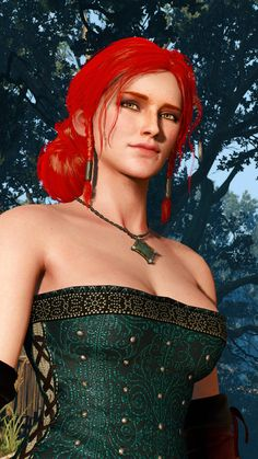 The witcher Triss Merigold 3d Fantasy, Fantasy Women, Fantasy Girl, Triss Merigold Witcher 3, Ciri, The Witcher Wild Hunt, The Witcher Game, Fantasy Characters, Female Characters