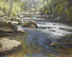 Roger Dale Brown, Mountain River, Oil on Canvas, 24 x 30 inches