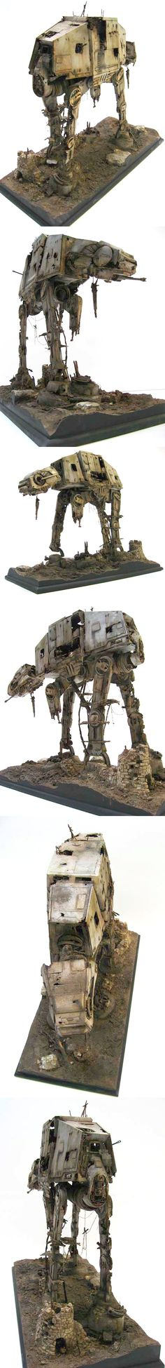 AT-AT 1/35 Scale Model Diorama. This is a pretty fantastic diorama.