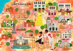 Kitkat Pecson - A map of Intramuros. Manila