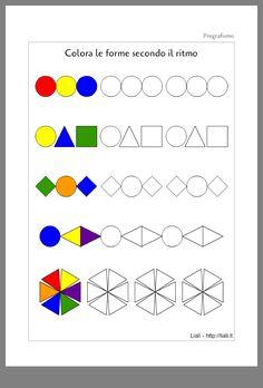 Pattern Geometriche Pregrafismo - The Form - geometriche Pattern Geometriche Pregrafismo - The Form Preschool Worksheets, Preschool Activities, Math Patterns, Pre Writing, Math For Kids, Kindergarten Math, Kids Education, Math Centers, Pre School