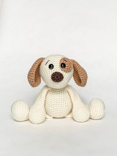 Crochet Amigurumi Puppy Dog Pattern | Etsy Little Puppies, Dogs And Puppies, Crochet Dog Patterns, Magic Circle, Stuffed Animal Patterns, Cute Crochet, Crochet Animals, Single Crochet, Teddy Bear