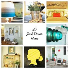 #25 More DIY Decor Projects Repurposing Household Items Into Decor.  NOTE:  Link isn't working. Try this:  http://www.creativelylivingblog.com/2013/01/more-ideas.html