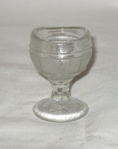 Vintage EYE WASH Pedestal Cup Clear Textured Glass .20 A 5/2