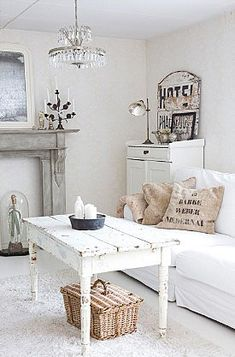 white + rustic. all white