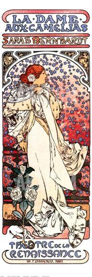 La Dame aux Camelias Art Print by Alphonse Mucha at Art.com