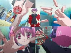 Nana (Elfen Lied) - Being decapitated by Lucy's vectors