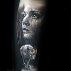 Hunt your way through ink inspiration with the top 50 best realistic wolf tattoo designs for men. Explore cool canine and manly wolf pack ink ideas. Wolf Tattoo Design, Tattoo Wolf, Native American Tattoos, Majestic Animals, Forearm Tattoo Men, Female Portrait, Tattoo Designs Men, Tattoo Studio, Art Studios