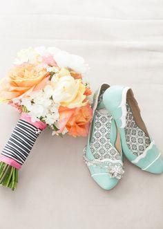 Vintage wedding shoes