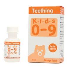 Homelab kids ages 0-9 teething syrup, orange flavor - 25 ml