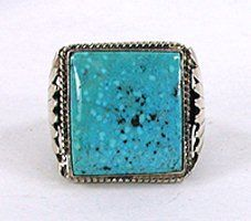 Authentic Native American Sterling Silver Turquoise ring size 10 1/2 by Navajo…