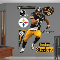 acdc5114b21 Pittsburgh Steelers Fathead Wall Decals   More