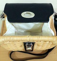 New Handwoven wicker purse handmade straw bag wicker