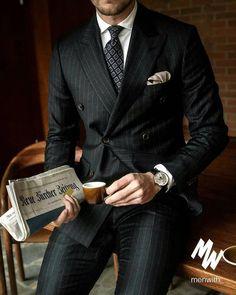 """Heart of Luxury Clothing - <img> Heart of Luxury Clothing """"Gentleman Style"""" – Leonadem Der Gentleman, Gentleman Style, Gentleman Fashion, Mens Fashion Suits, Mens Suits, Men's Fashion, Style Costume Homme, Mode Costume, Designer Suits For Men"""