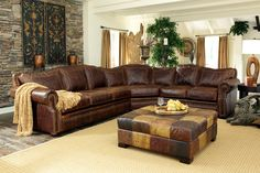 Usa Made Leather Secional Sectional Sofas Couches Furniture Tucson