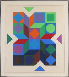 Victor Vasarely (1906-1997) Geometrics, Serigraph