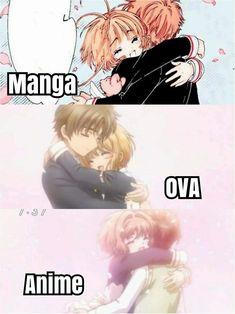 3 Version of Sakura x Syaoran Tomoyo Sakura, Syaoran, Anime W, Anime Love, Otaku, Animes To Watch, Card Captor, Clear Card, Gurren Lagann