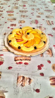 Crostata di frutta 2: pesche, ananas, amarene