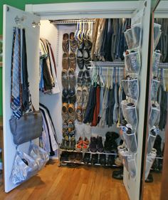 7 Tips for Keeping an Uncluttered Closet | 1. Cycle out your clothing. Move your off-season clothes out of your everyday closet or to the back of the closet. 2. Be willing to reconfigure. 3. Have a place for everything and put everything back in its place. 4. Leave some extra space. 5. Implement a temporary zone. (Hang hooks for a temporary space to stash things. But hooks are only handy if they're not always full of stuff!) 6. Keep the hamper nearby. 7. Don't over stuff the closet!