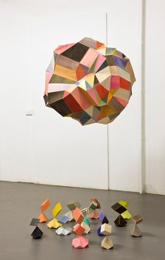 Amy Joy Watson, Untitled, 2011 balsa wood, watercolour, polyester thread, plaster, 310 x 200 x 210cm