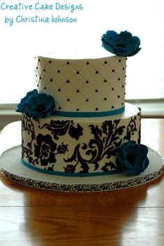 Teal Anemone by Creative Cake Designs (Christina), via Flickr - can do this design with Cricut cake! :)