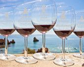 5 Personalized Wine Glasses - DIY - Bridesmaids Gift - Custom Engraved Wine Glasses - Wedding party favors