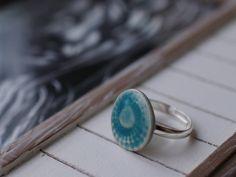 Ringe - Ring türkis Keramik - ein Designerstück von TonArts-Keramik bei DaWanda