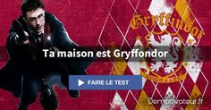 A quelle maison Harry Potter appartiens-tu ? Moi, j'ai été Gryffondor ! Et vous, à quelle maison apartener-vous ? le lien pour le site :http://www.demotivateur.fr/quizz/a-quelle-maison-harry-potter-appartiens-tu--18