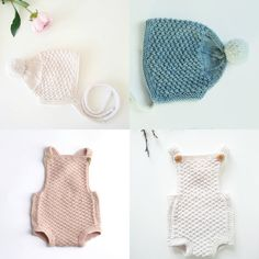 2piece knitting pattern baby outfit baby bonnet knitting