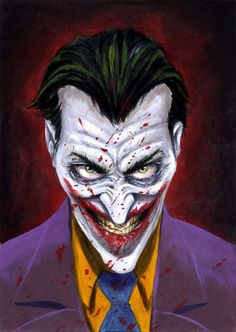 Joker Oil Painting By Marc Wolfe