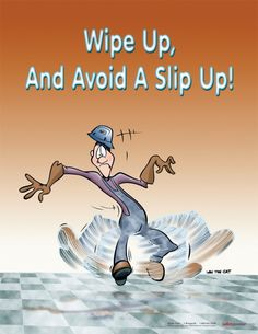 Slips and Falls Safety Poster