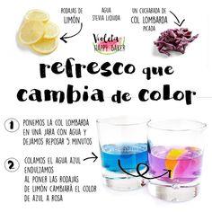 """: """"¡El mágico líquido azul que cambia de color! Que ➡️ ni es infusión molona pq no sabe mal, pero tampoco es lo más rico que he bebido ➡️ni yo…"""" Good Healthy Recipes, Raw Food Recipes, Healthy Cooking, Healthy Choices, Healthy Snacks, Sweet Recipes, Smoothies For Kids, Healthy Smoothies, Yummy Drinks"""