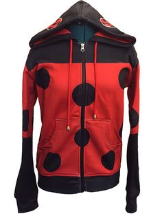 Miraculous Ladybug Inspired Hoodie by TheTastefulNerd on Etsy