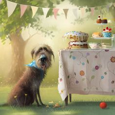 Diane Hutt Gallery - Fine art, limited edition prints,framed artworks - Afternoon Tea by Stephen Hanson Complimentary Mount and Backed - Tee Kunst, Dog Illustration, Tea Art, Whimsical Art, Limited Edition Prints, Dog Pictures, Online Art, Framed Artwork, Illustrators