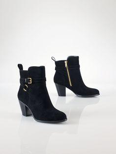 ❦ Oiled Suede Bootie - Lauren Shoes   Shoes - RalphLauren.com
