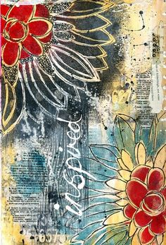 Inspired art journal page by Jill Wheeler