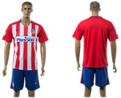 2015-2016 Atletico Madrid Home Soccer Jersey