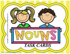 $ Noun Task Cards. These noun task cards are great practice for your students identifying nouns in everyday sentences.*24 task cards *2 sets of cards with different backgrounds *Scoring sheet *Answer keys included