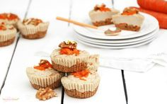 <p>These decadent personal cakes have a delicious carrot cake base that is topped with a smooth and creamy cashew cheesecake layer. They are great for special occasions because they look so darn impressive. </p>