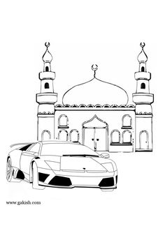 mosque coloring page mechet raskraski musulmanskie car mashina
