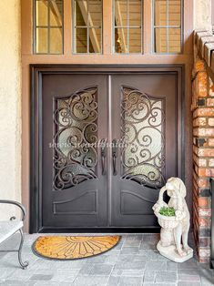 If you prefer a solid and secure door, you should opt for one made from iron. At Universal Iron Doors, we're your source for custom iron door designs! 💡 About this design: Custom Iron Door ☎️️ 877-205-9418 🌐 www.iwantthatdoor.com