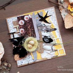 Думаю, что вы не узнаете меня в этой открытке (а может я и ошибаюсь) она для меня довольно необычная, и цветовая гамма, и раскладка. Кстати, вы заметили, что в моих открытках количество цветов стало заметно уменьшаться, а здесь я вообще обошлась одним цветком))) Подробности в блоге #скрап #скрапбукинг #кардмейкинг #одуванчики #лето #открытка #открыткиручнойработы #хендмейд #назаказ #блоггер #scrap_by_Ritta #scrap #cardmaking #card #cards #handmade #summer