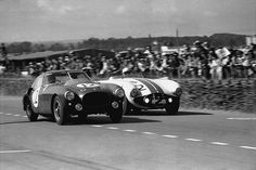 1953 LM. #12 factory entered Ferrari lasted 75% of the race. The #2 Cunningham finished 3rd.