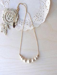 Cotton Pearl necklace  -  Suiteki